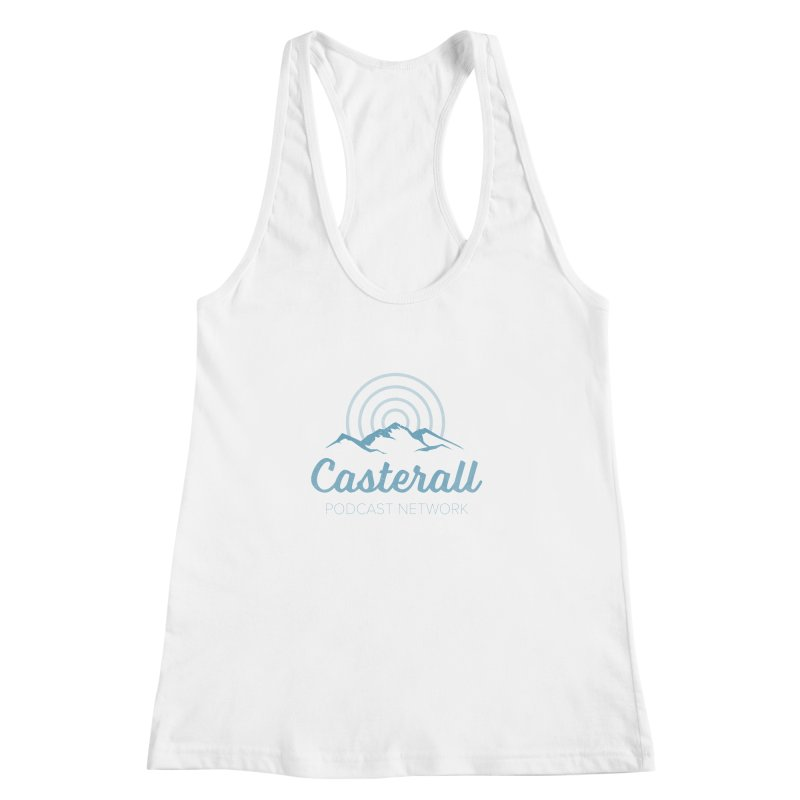 Listen in on the Casterall Podcast Network Women's Racerback Tank by Jac=Jake