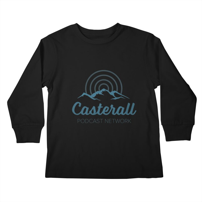Listen in on the Casterall Podcast Network Kids Longsleeve T-Shirt by Jac=Jake
