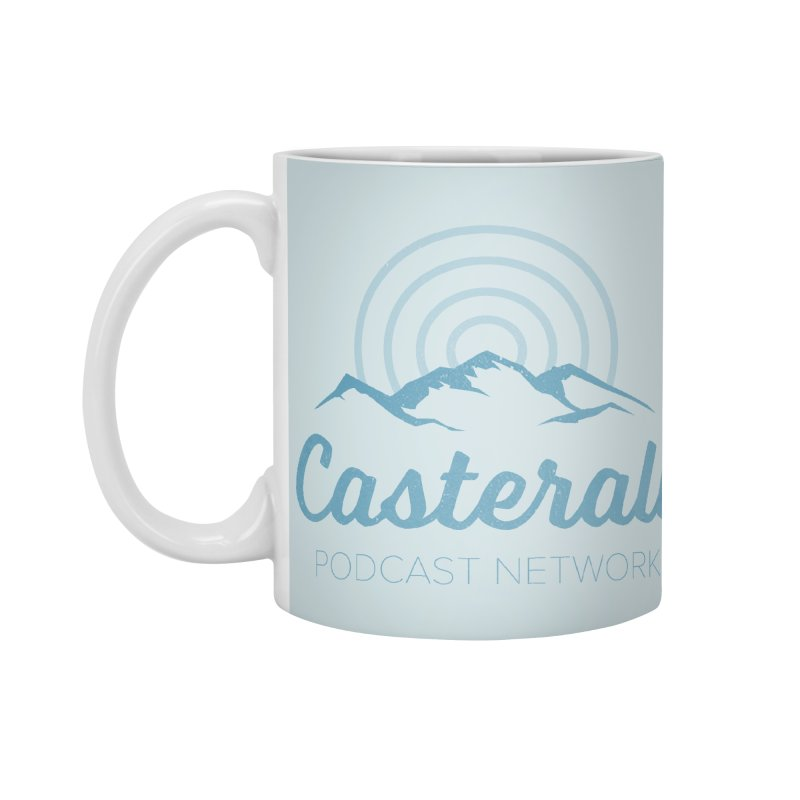 Listen in on the Casterall Podcast Network Accessories Mug by Jac=Jake