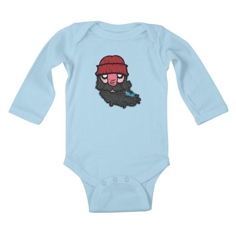 Bearded Jack Kids Baby Longsleeve Bodysuit by Jac=Jake