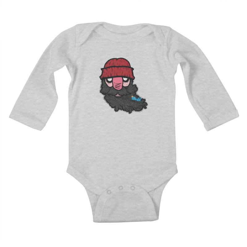 Bearded Jack Kids Baby Longsleeve Bodysuit by Jac=Jake