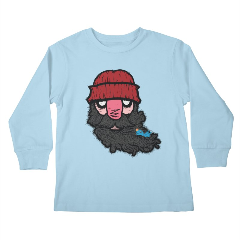 Bearded Jack Kids Longsleeve T-Shirt by Jac=Jake
