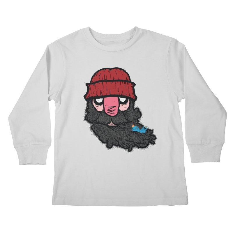 Bearded Jack Kids Longsleeve T-Shirt by Jac=Jake
