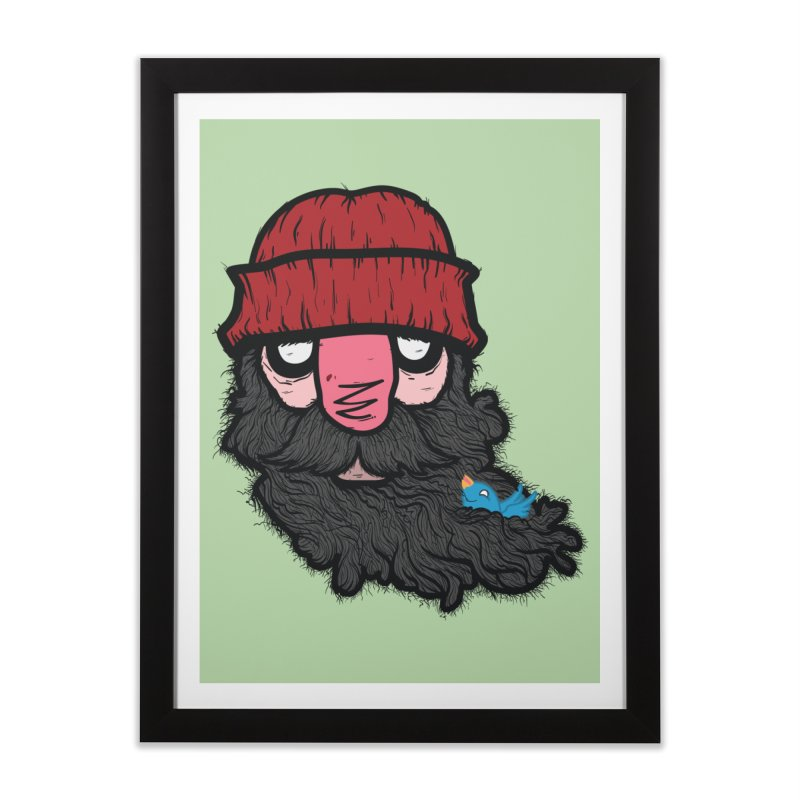 Bearded Jack Home Framed Fine Art Print by Jac=Jake