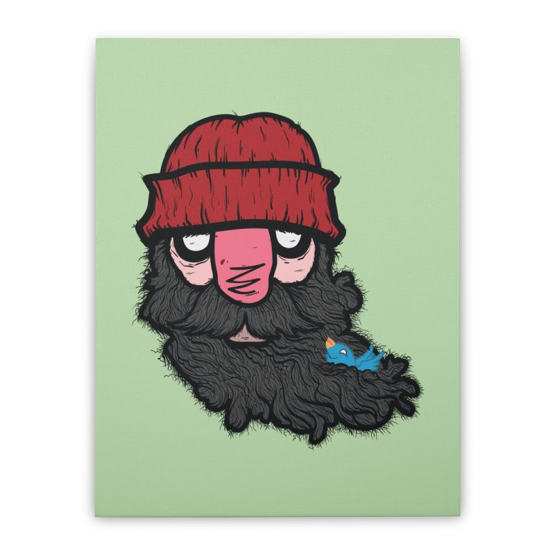 Bearded Jack Home Stretched Canvas by Jac=Jake