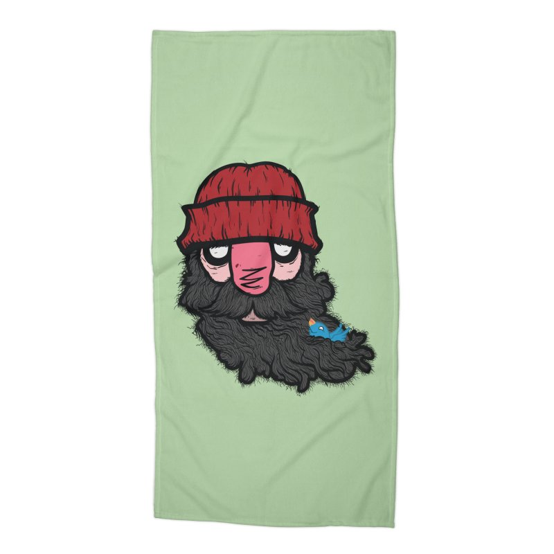 Bearded Jack Accessories Beach Towel by Jac=Jake