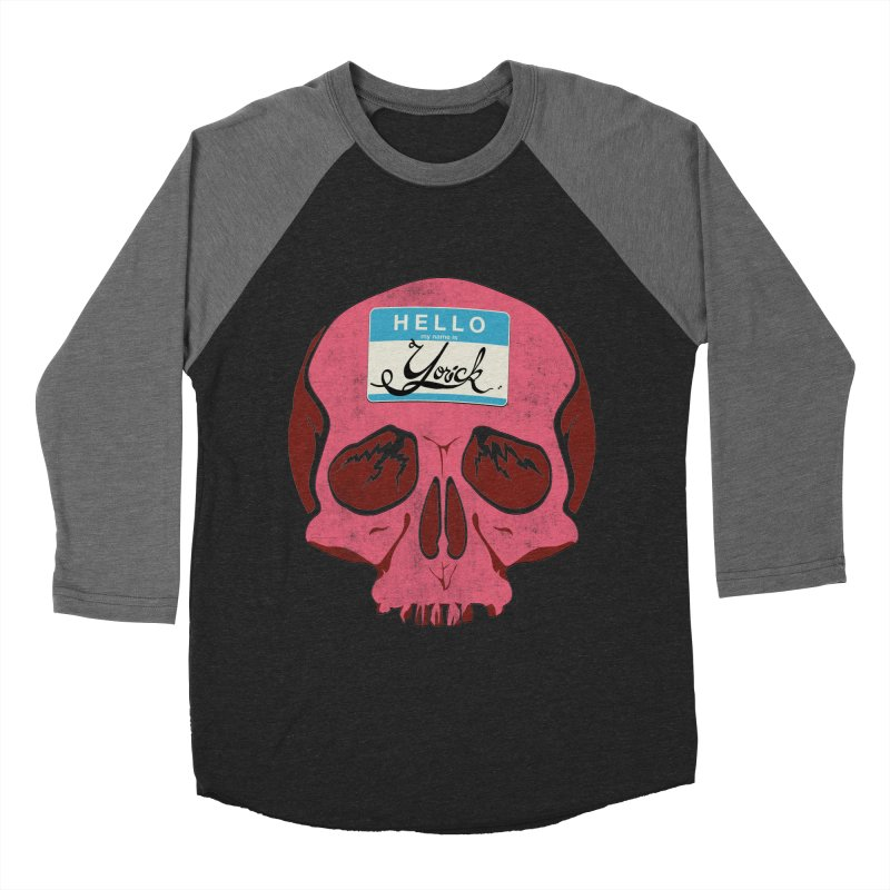 Hello Yorick! Men's Baseball Triblend T-Shirt by Jac=Jake