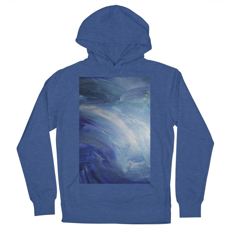 Blue Shimmer Women's French Terry Pullover Hoody by Janet Gervers Art Shop