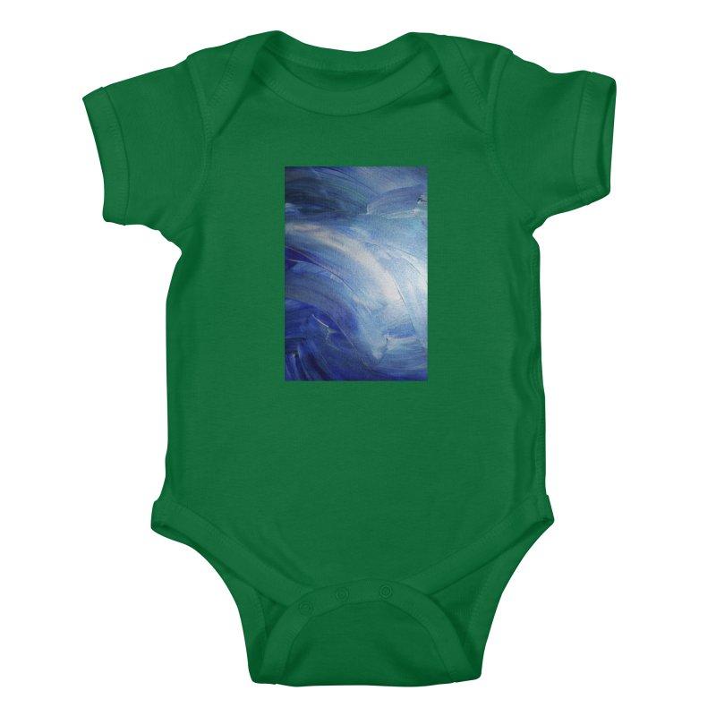 Blue Shimmer Kids Baby Bodysuit by Janet Gervers Art Shop