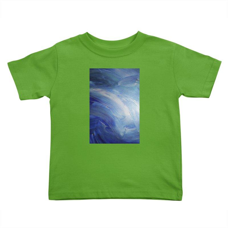 Blue Shimmer Kids Toddler T-Shirt by Janet Gervers Art Shop