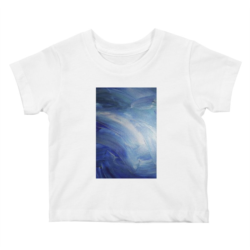 Blue Shimmer Kids Baby T-Shirt by Janet Gervers Art Shop
