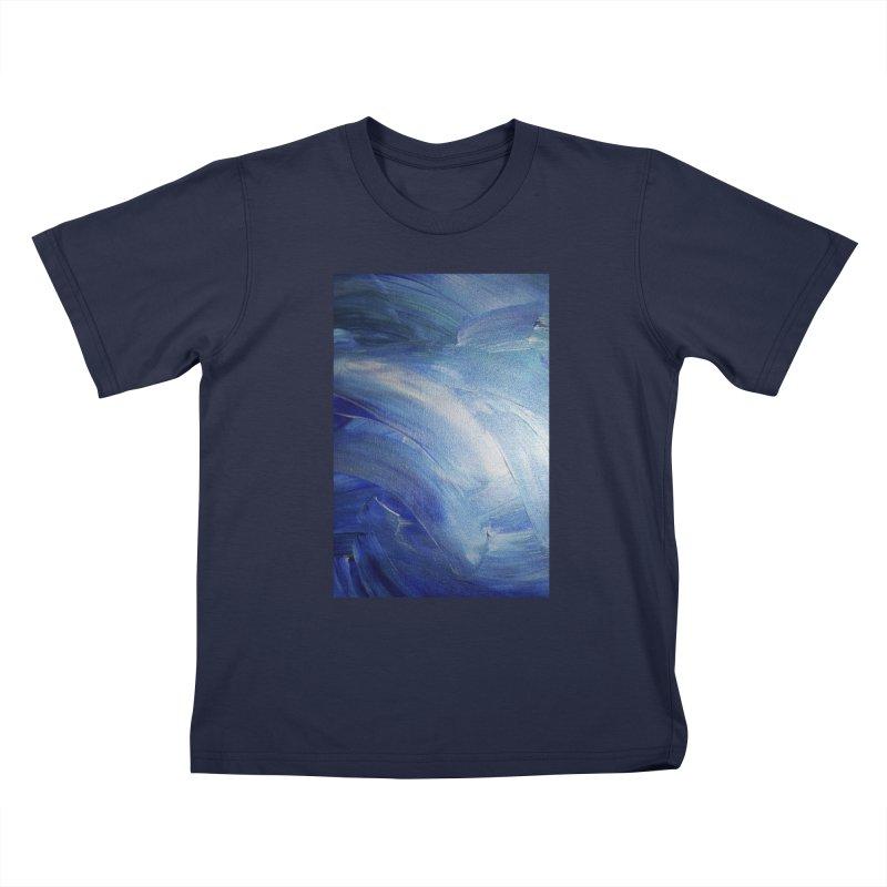Blue Shimmer Kids T-Shirt by Janet Gervers Art Shop