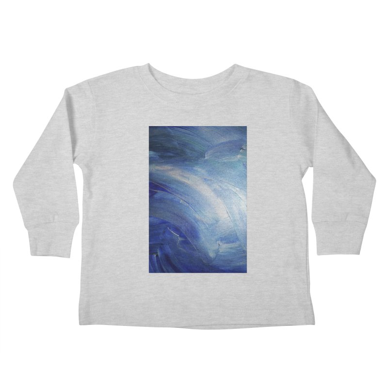 Blue Shimmer Kids Toddler Longsleeve T-Shirt by Janet Gervers Art Shop