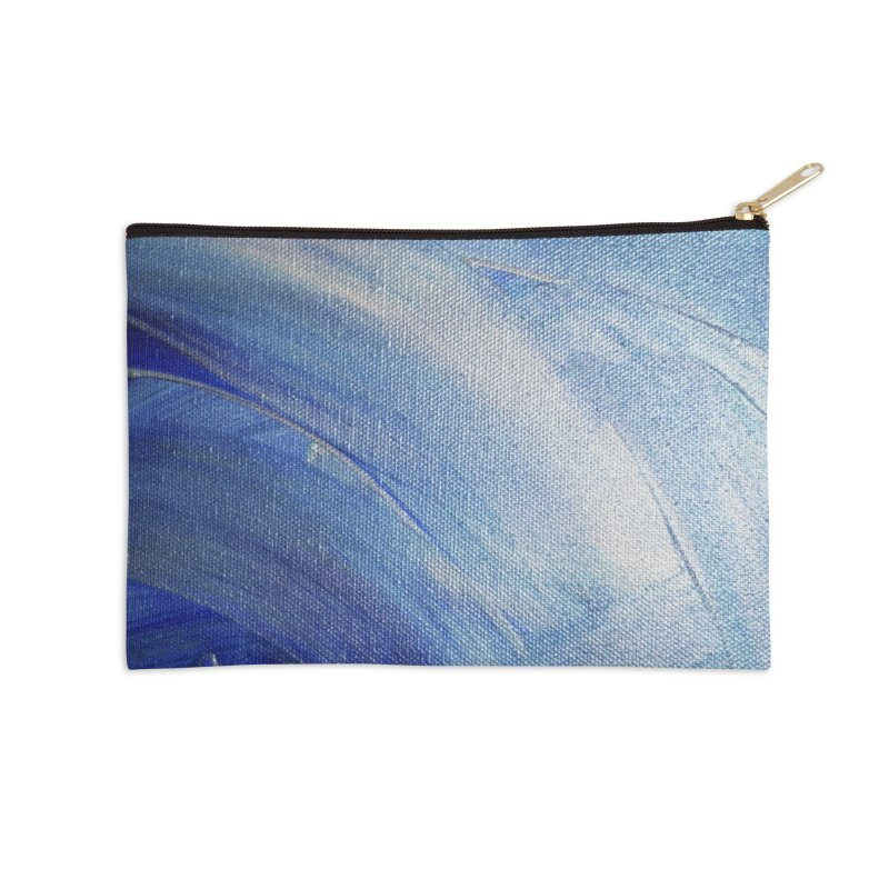 Blue Shimmer Accessories Zip Pouch by Janet Gervers Art Shop