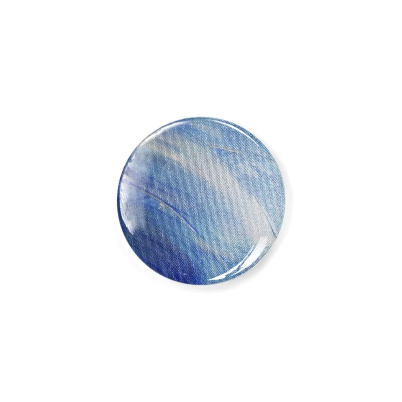 Blue Shimmer Accessories Button by Janet Gervers Art Shop