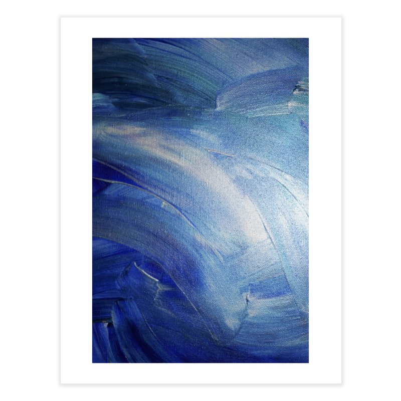 Blue Shimmer Home Fine Art Print by Janet Gervers Art Shop