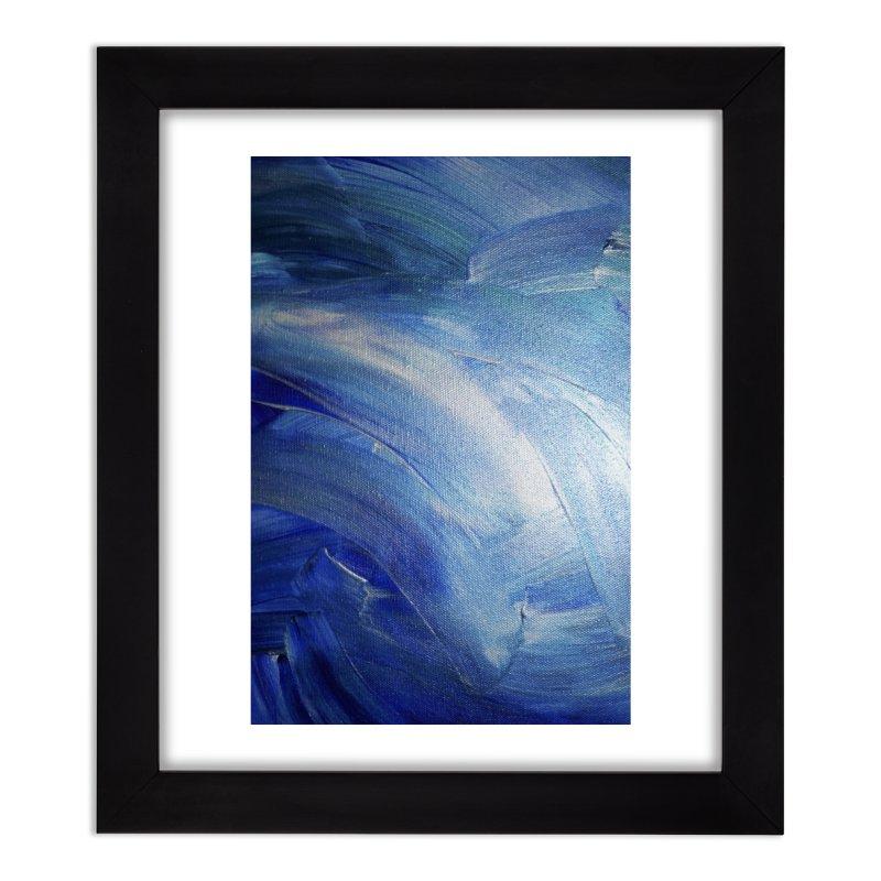 Blue Shimmer Home Framed Fine Art Print by Janet Gervers Art Shop