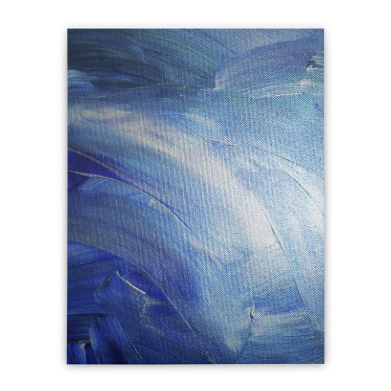 Blue Shimmer Home Stretched Canvas by Janet Gervers Art Shop