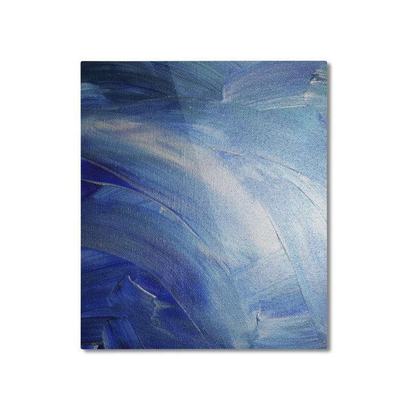 Blue Shimmer Home Mounted Aluminum Print by Janet Gervers Art Shop