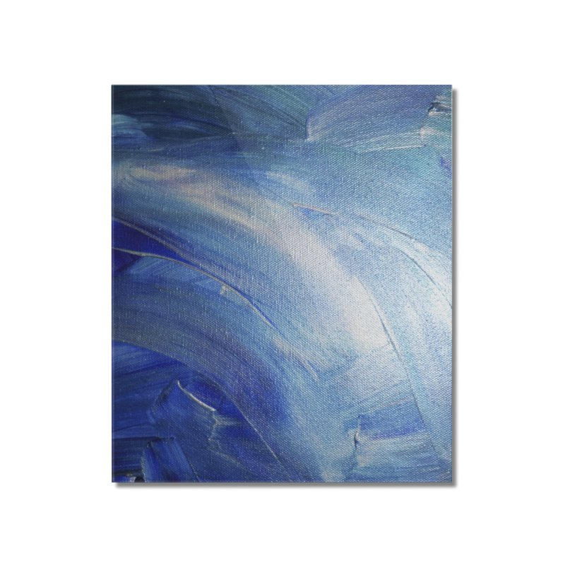 Blue Shimmer Home Mounted Acrylic Print by Janet Gervers Art Shop