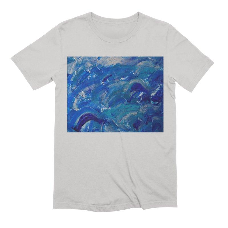 Shimmering Waves Men's T-Shirt by Janet Gervers Art Shop