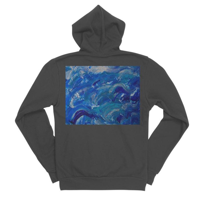 Shimmering Waves Women's Sponge Fleece Zip-Up Hoody by Janet Gervers Art Shop