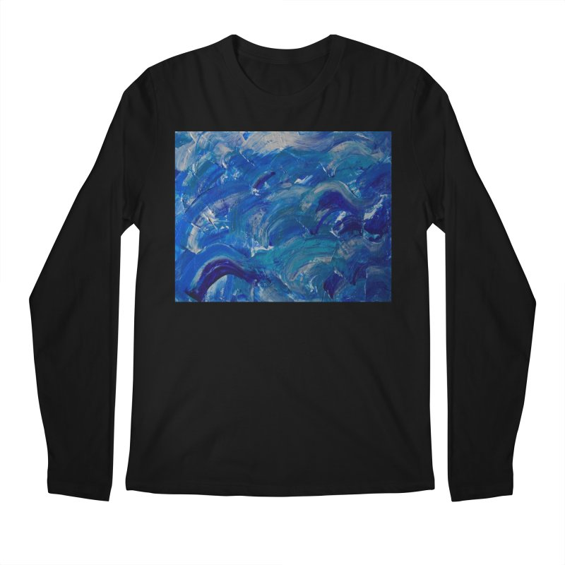 Shimmering Waves Men's Regular Longsleeve T-Shirt by Janet Gervers Art Shop