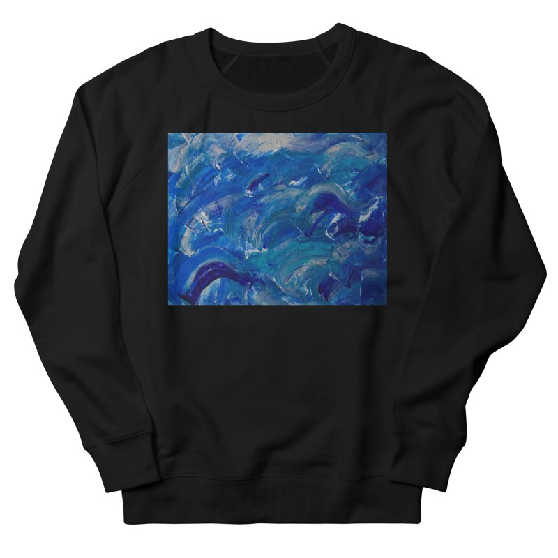 Shimmering Waves Men's French Terry Sweatshirt by Janet Gervers Art Shop