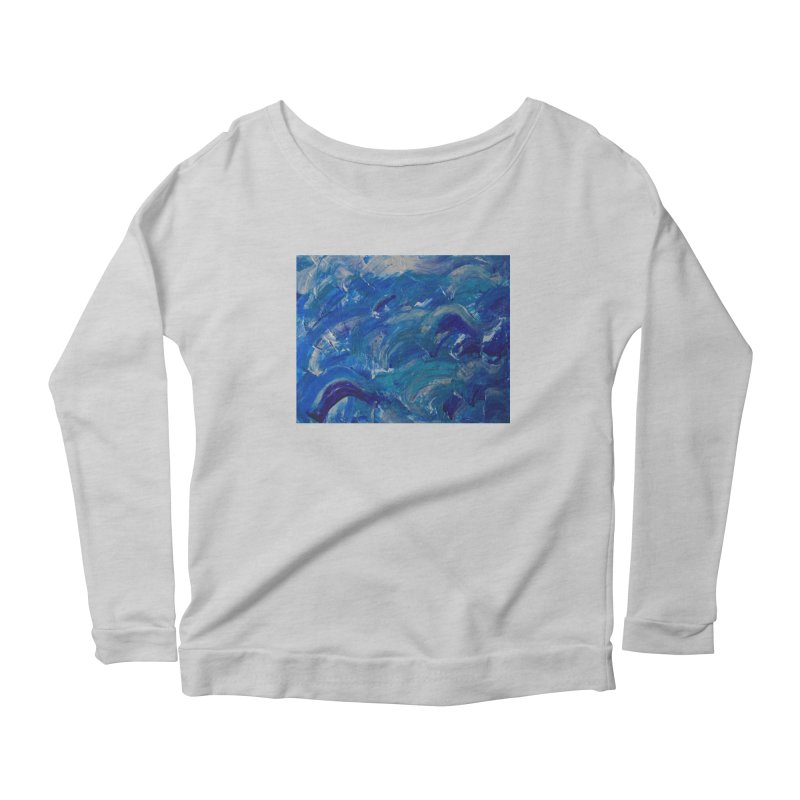 Shimmering Waves Women's Longsleeve T-Shirt by Janet Gervers Art Shop