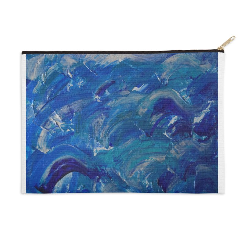 Shimmering Waves Accessories Zip Pouch by Janet Gervers Art Shop