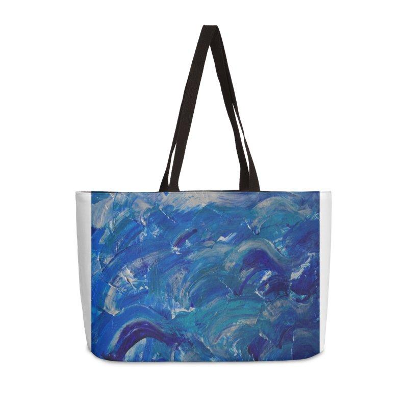 Shimmering Waves Accessories Weekender Bag Bag by Janet Gervers Art Shop