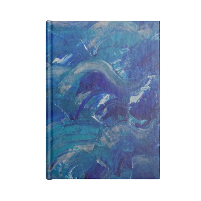 Shimmering Waves Accessories Notebook by Janet Gervers Art Shop