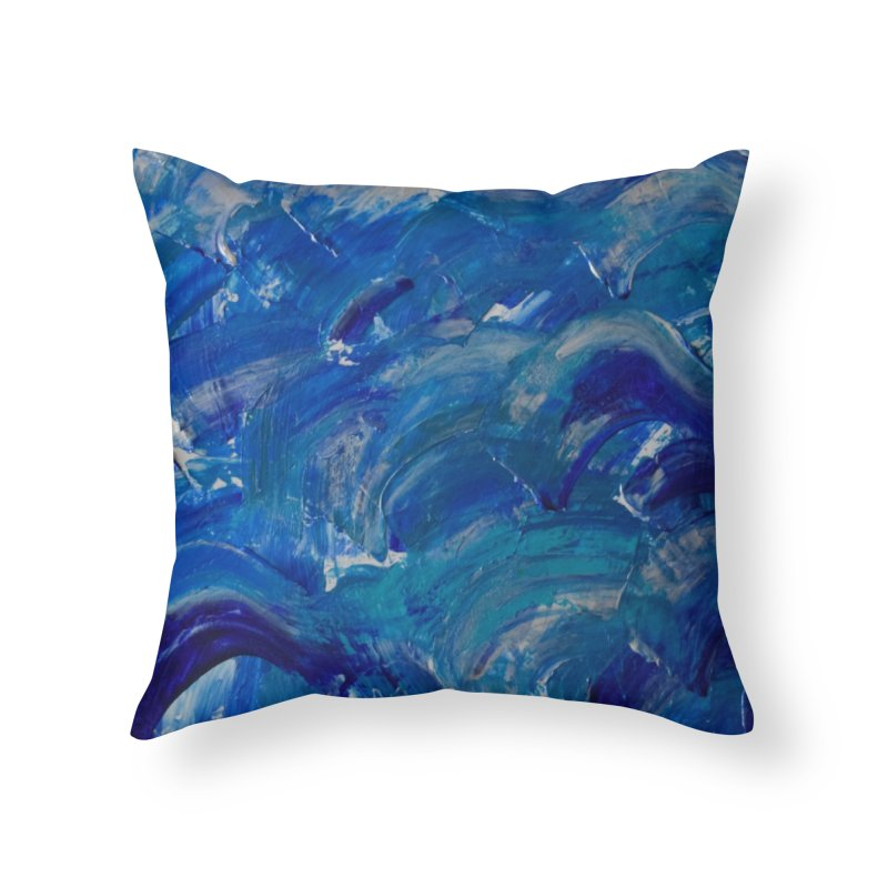 Shimmering Waves Home Throw Pillow by Janet Gervers Art Shop