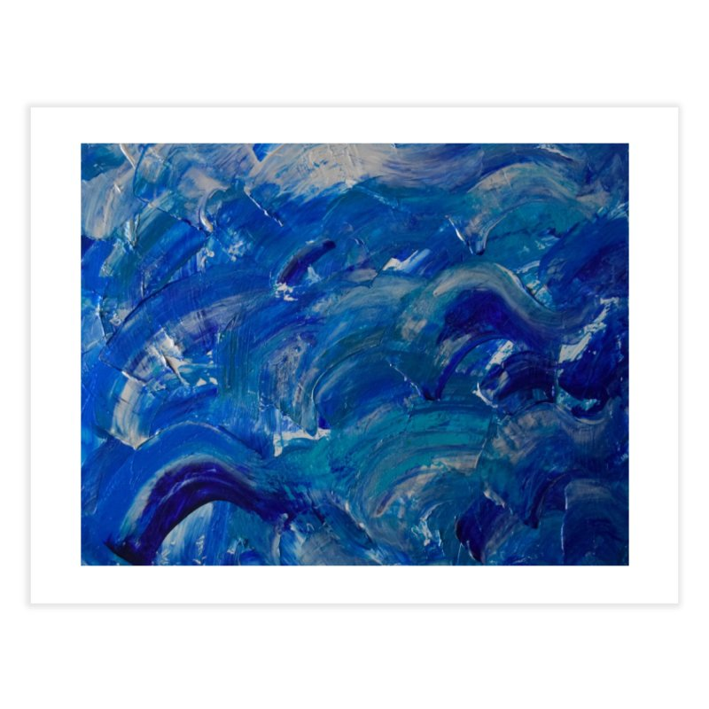 Shimmering Waves Home Fine Art Print by Janet Gervers Art Shop