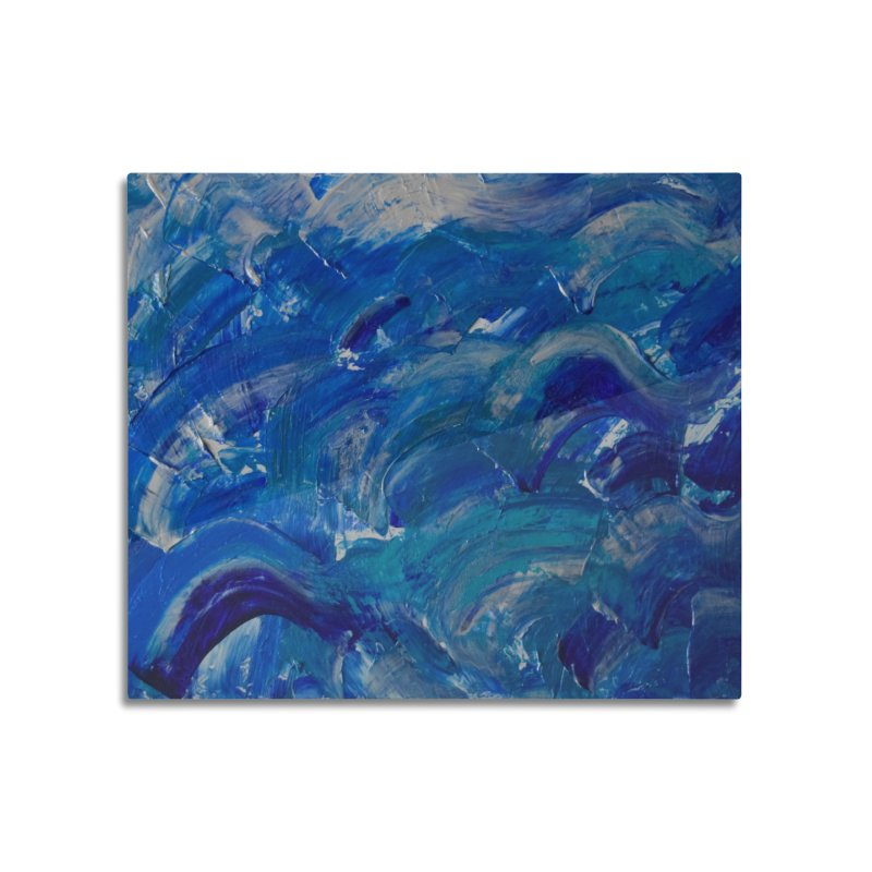 Shimmering Waves Home Mounted Aluminum Print by Janet Gervers Art Shop