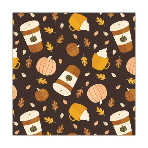 Design for Pumpkin Spice Latte Pattern | Brown