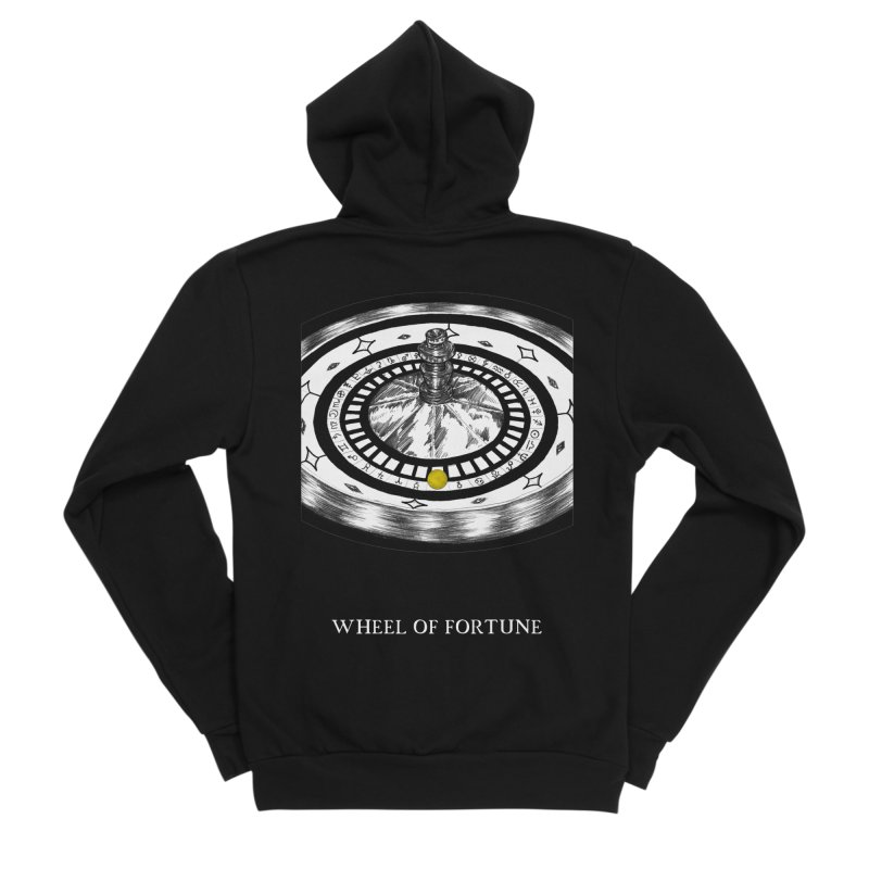 Wheel of Fortune Men's Sponge Fleece Zip-Up Hoody by The Ink Maiden