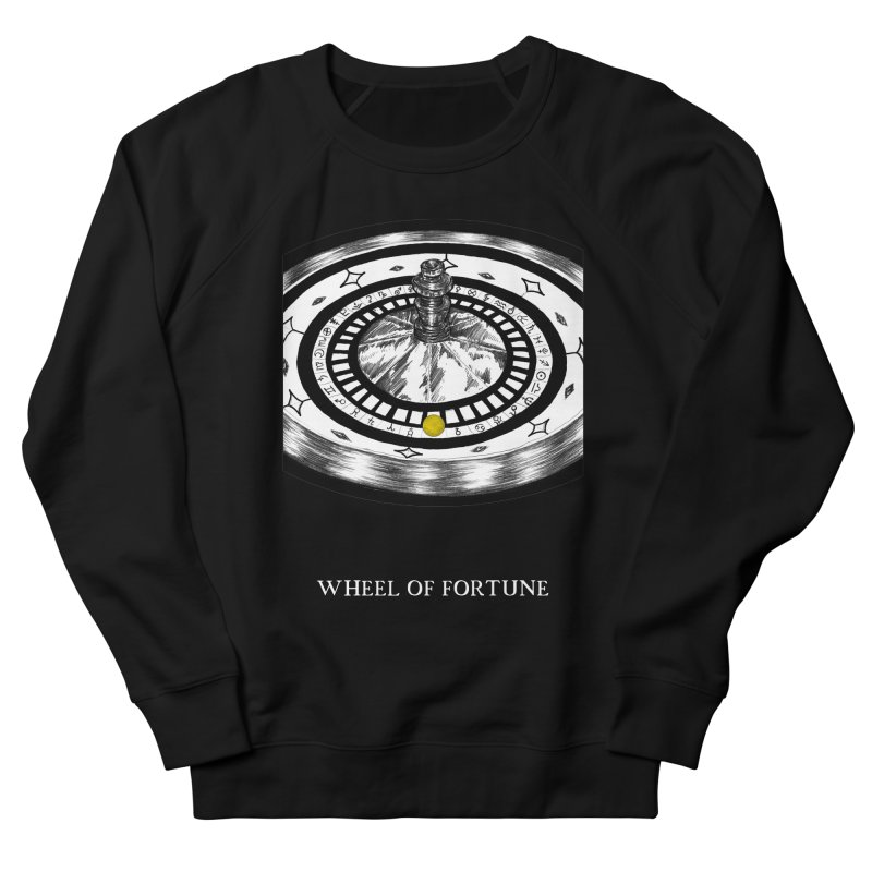 Wheel of Fortune Men's French Terry Sweatshirt by The Ink Maiden