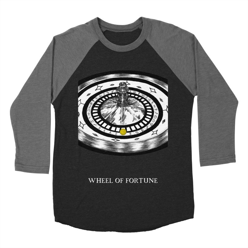 Wheel of Fortune Men's Baseball Triblend Longsleeve T-Shirt by The Ink Maiden