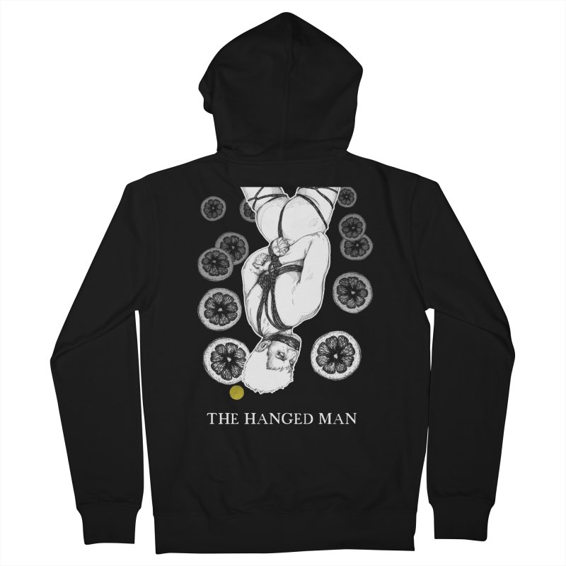 The Hanged Man Men's French Terry Zip-Up Hoody by The Ink Maiden