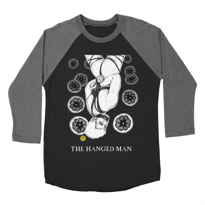The Hanged Man Men's Baseball Triblend Longsleeve T-Shirt by The Ink Maiden