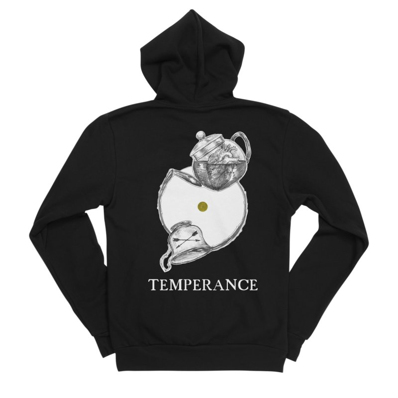 Temperance Men's Sponge Fleece Zip-Up Hoody by The Ink Maiden