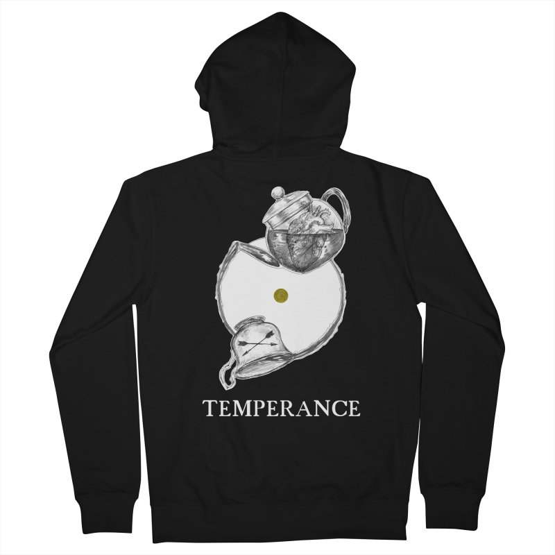Temperance Men's French Terry Zip-Up Hoody by The Ink Maiden