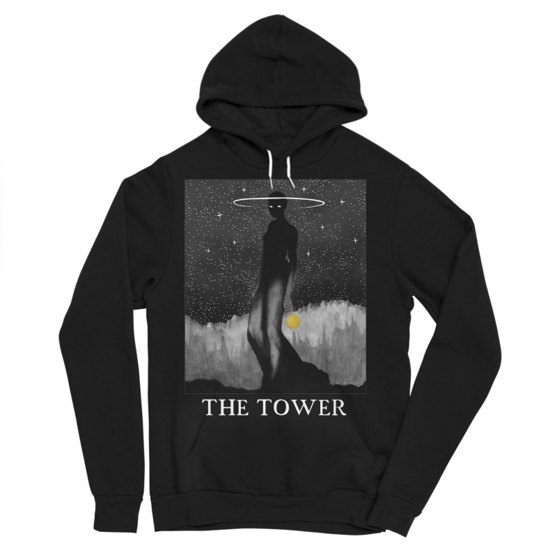The Tower Men's Sponge Fleece Pullover Hoody by The Ink Maiden