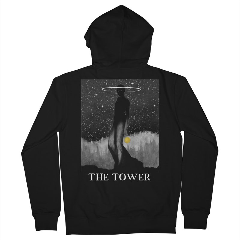 The Tower Men's French Terry Zip-Up Hoody by The Ink Maiden