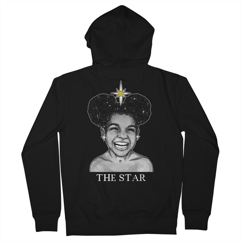 The Star Men's French Terry Zip-Up Hoody by The Ink Maiden
