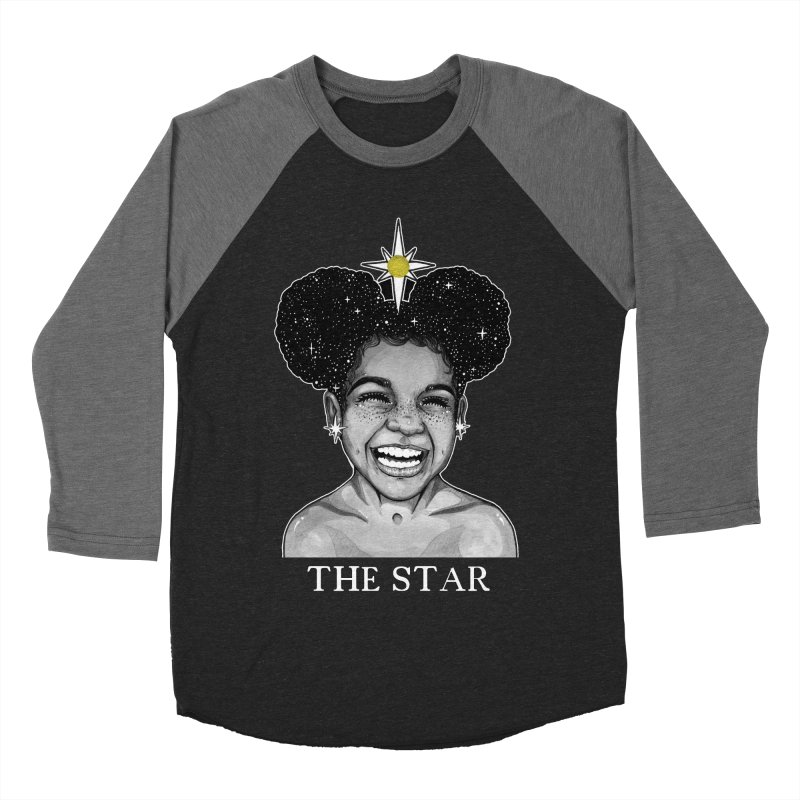 The Star Men's Baseball Triblend Longsleeve T-Shirt by The Ink Maiden
