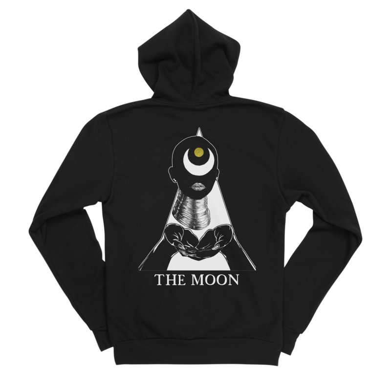 The Moon Women's Sponge Fleece Zip-Up Hoody by The Ink Maiden