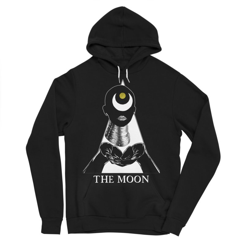 The Moon Men's Sponge Fleece Pullover Hoody by The Ink Maiden