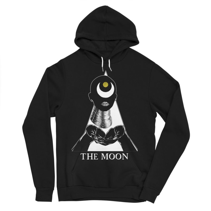 The Moon Women's Sponge Fleece Pullover Hoody by The Ink Maiden